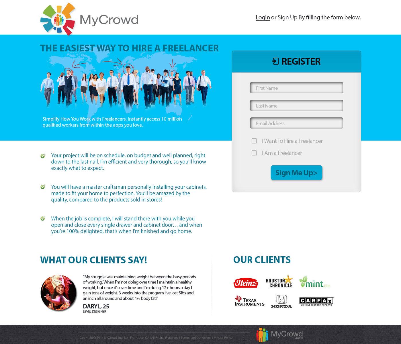 My Crowd Website by Xtrix Pakistan at Coroflot com