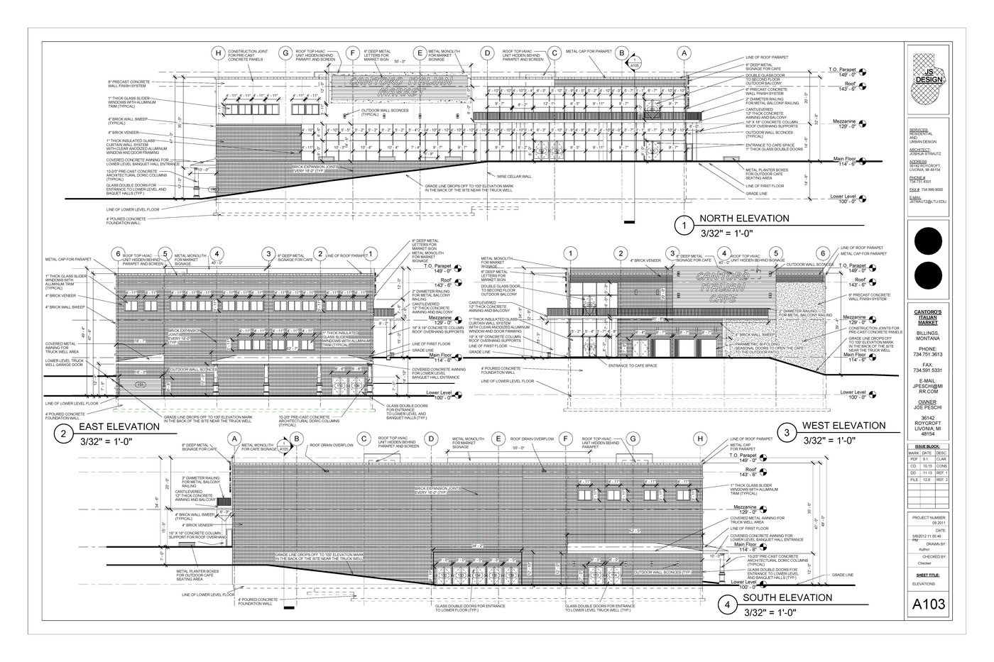 Cantoro Market Construction Drawings by Josh Strautz at