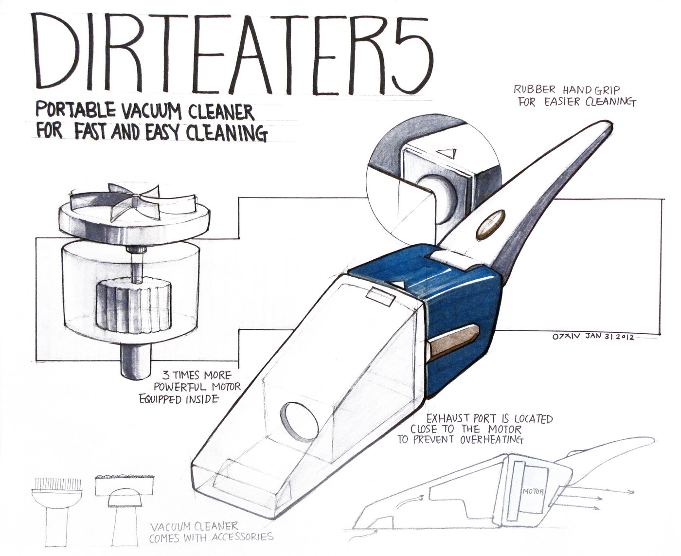 Vacuum Cleaner Drawings by Woojin Joy Chung at Coroflot com
