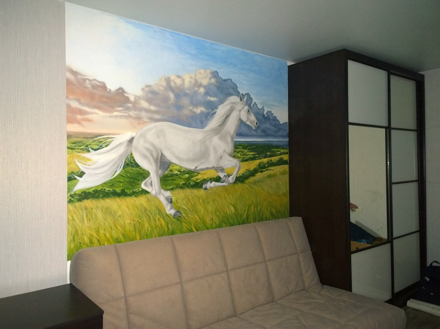 Wall Painting In The Children S Room Spirit By Maria Kharchenko