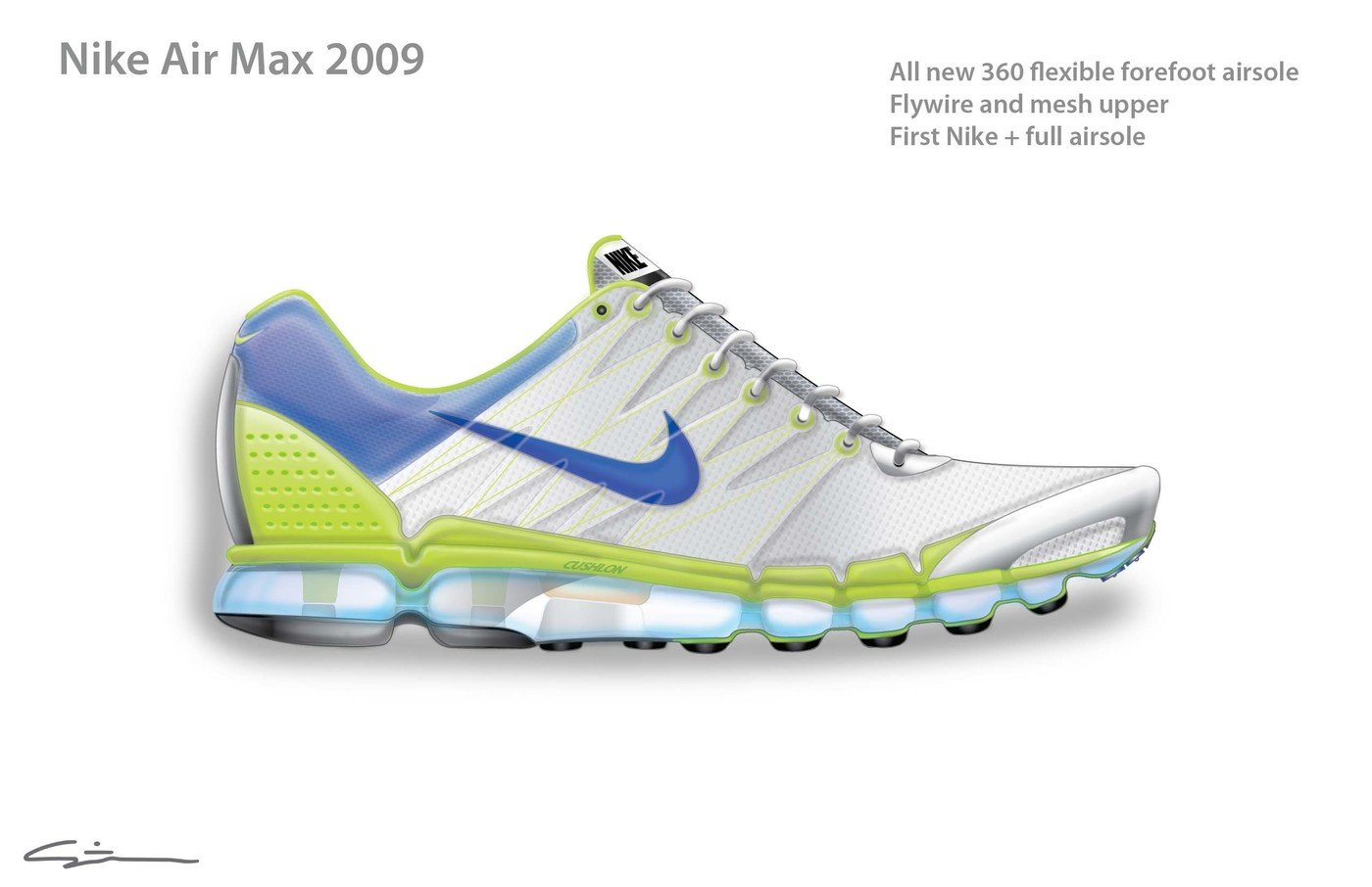 d154b45f90a8 Nike Air Max 2009 Shoe and Airsole by Steven F. Smith at Coroflot.com
