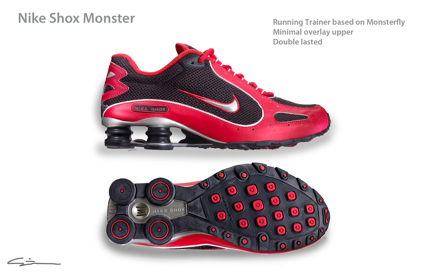 various colors 01eaa b4ca8 Nike Shox Monsterfly and Shox Monster trainer by Steven F ...