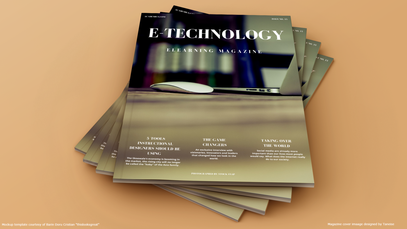 Elearning Magazine Cover By Taneise Cook At Coroflot Com