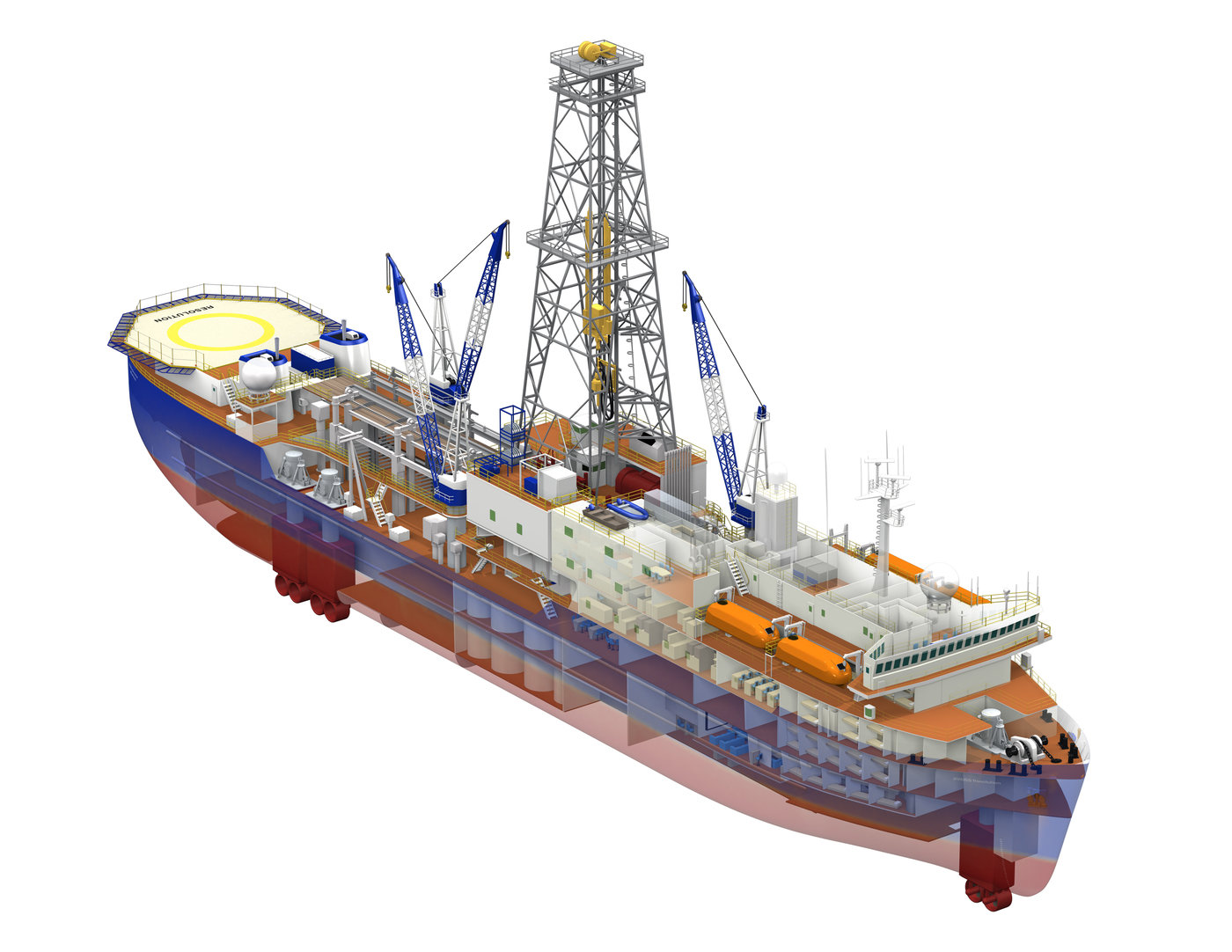 Joides Resolution Scientific Drilling Ship By Charles