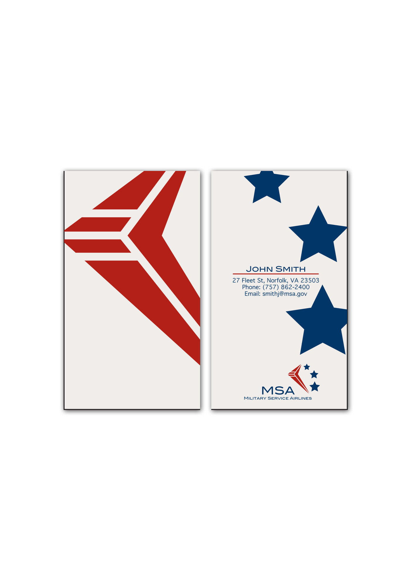 Corporate identity project by stacy biesterveld at coroflot msa business card front back reheart Gallery