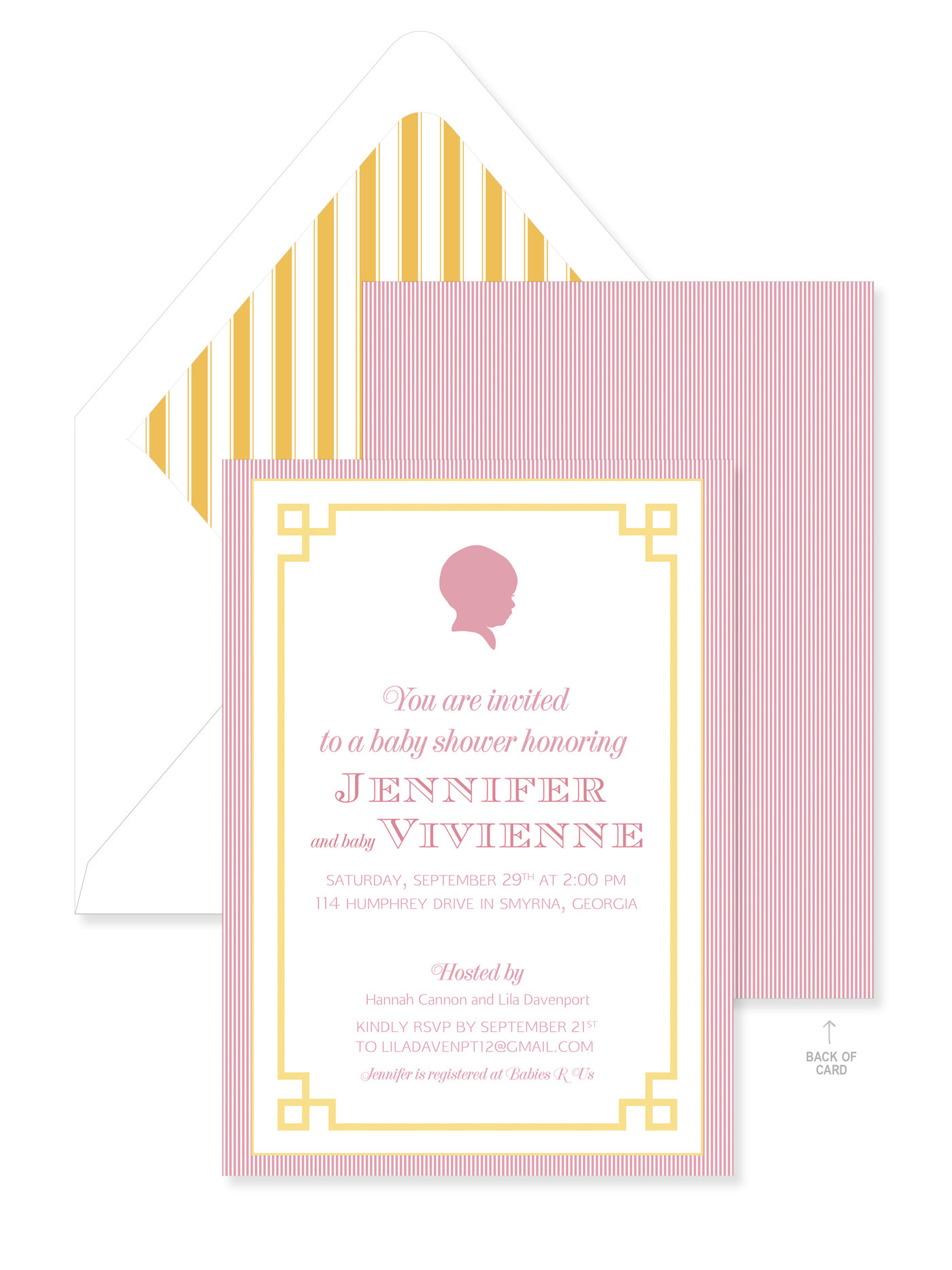 Silhouette baby shower invitation by lila cannon at coroflot filmwisefo