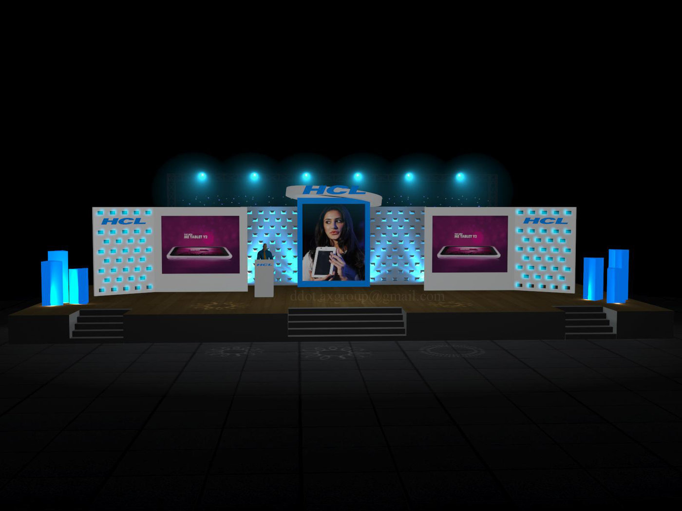 3d stage design by rakesh saini at for Desin 3d