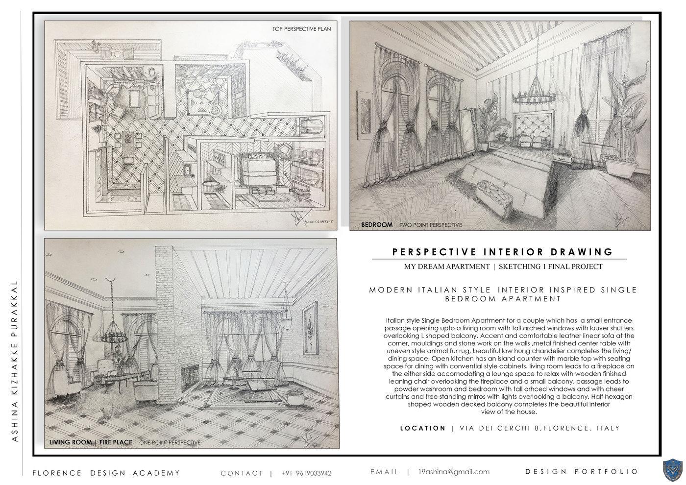 Italian Style House Perspective Drawings By Ashina K P At Coroflot Com