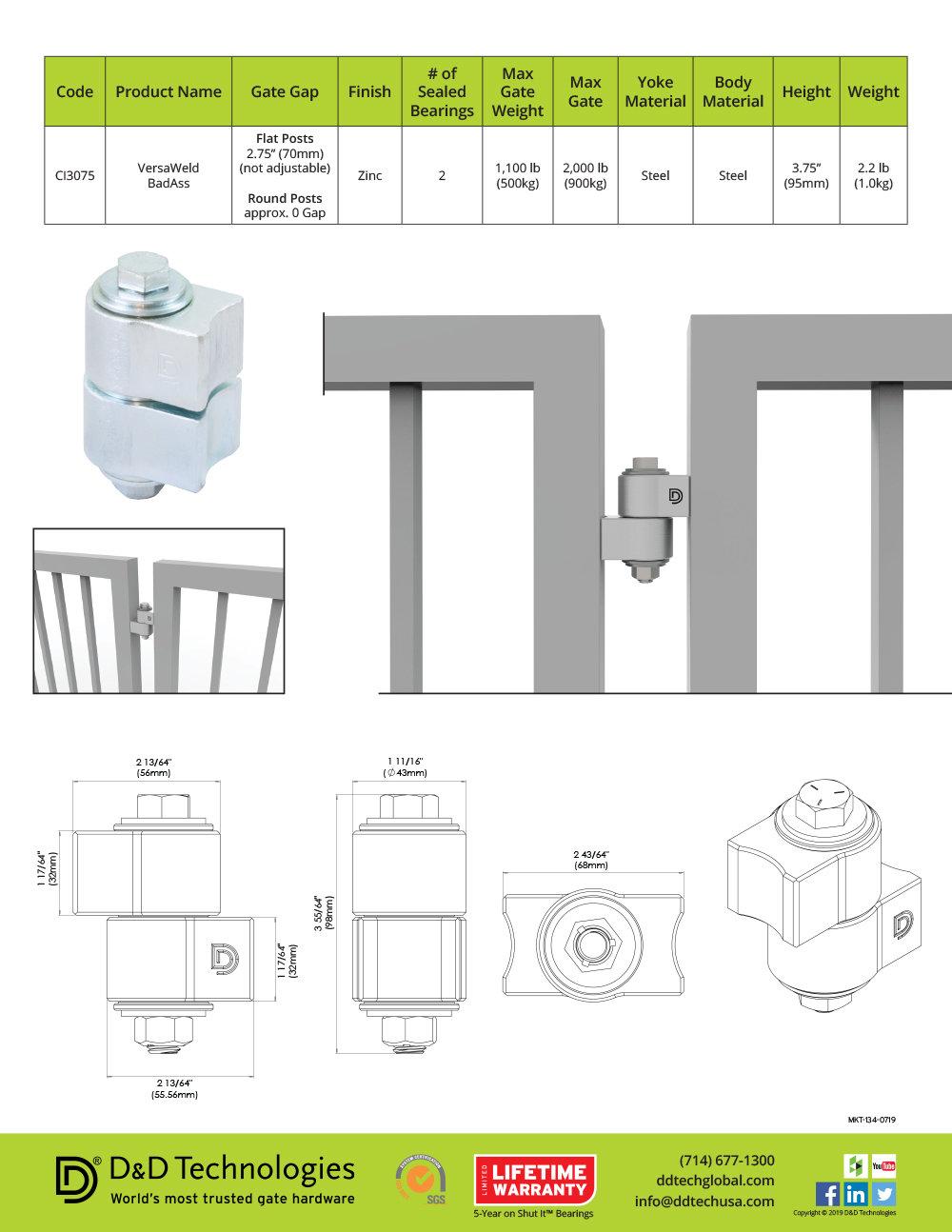 Shut It VersaWeld BadAss Gate Hinge Sell Sheet by Richard