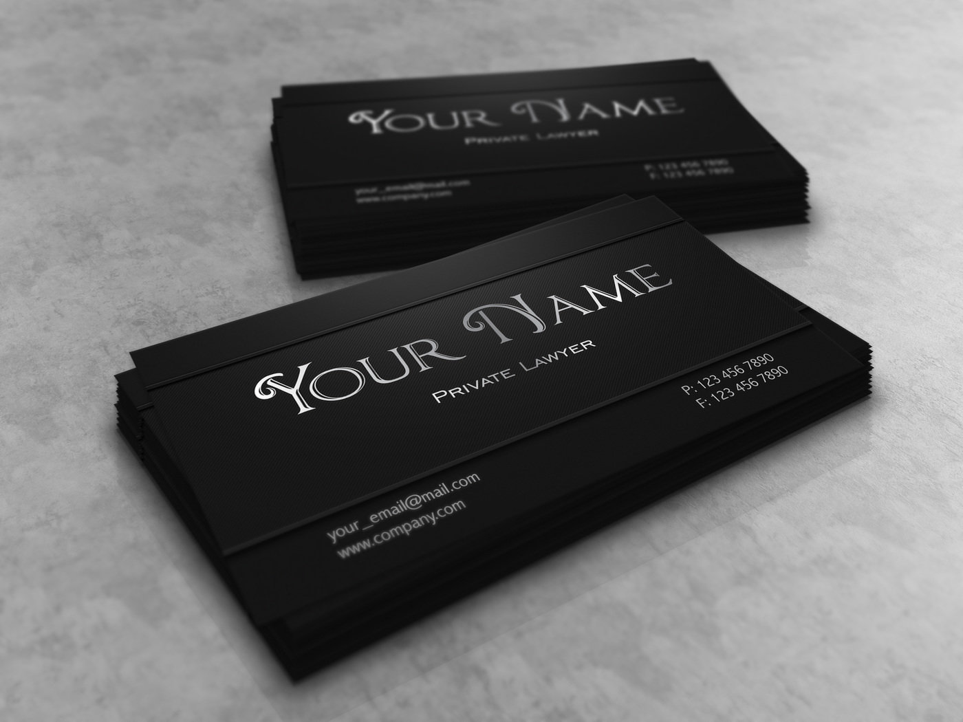 Dark lawyer business card template by borce markoski at coroflot cheaphphosting Gallery