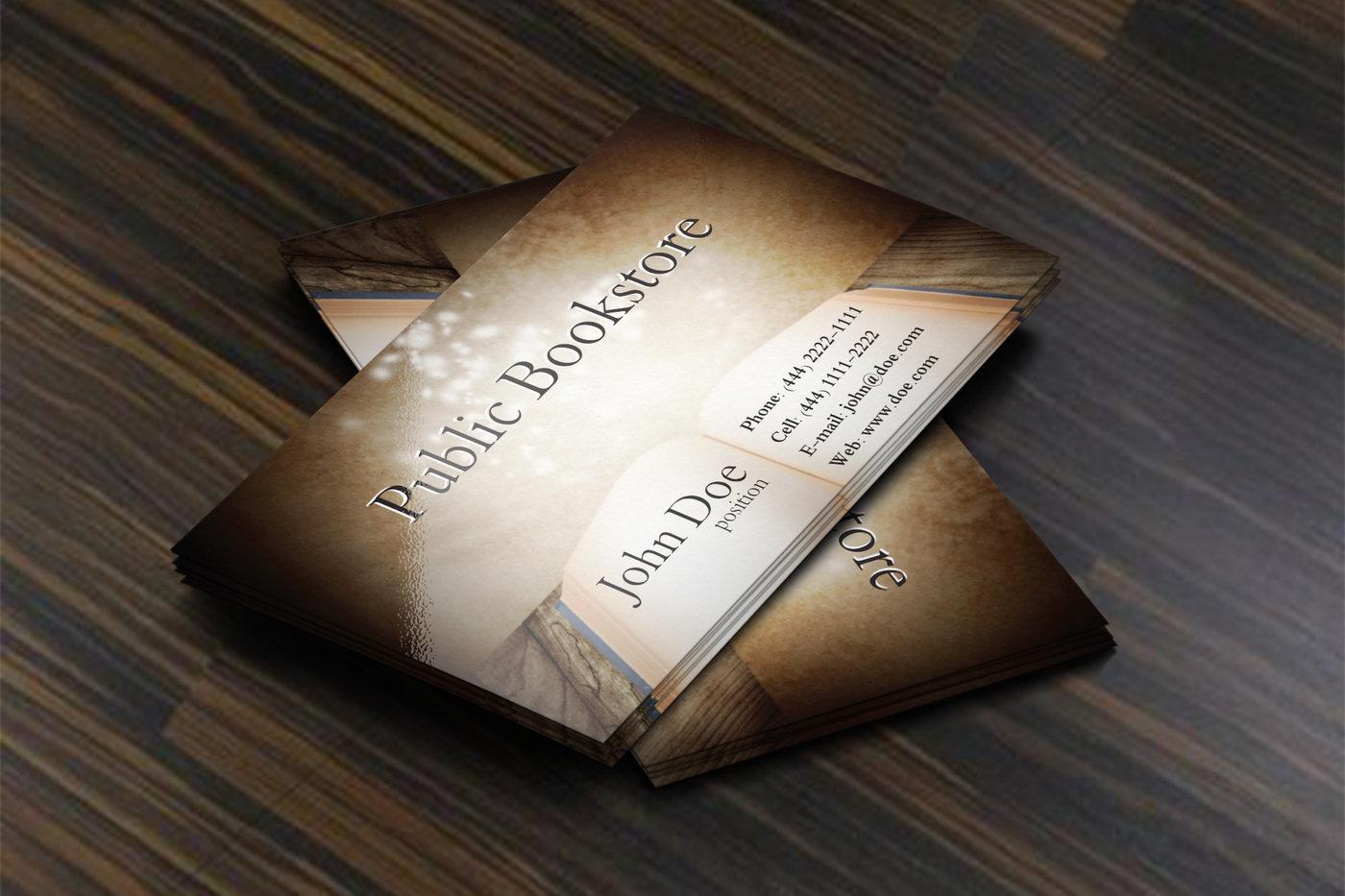 Free bookstore business card template by borce markoski at coroflot share reheart Gallery