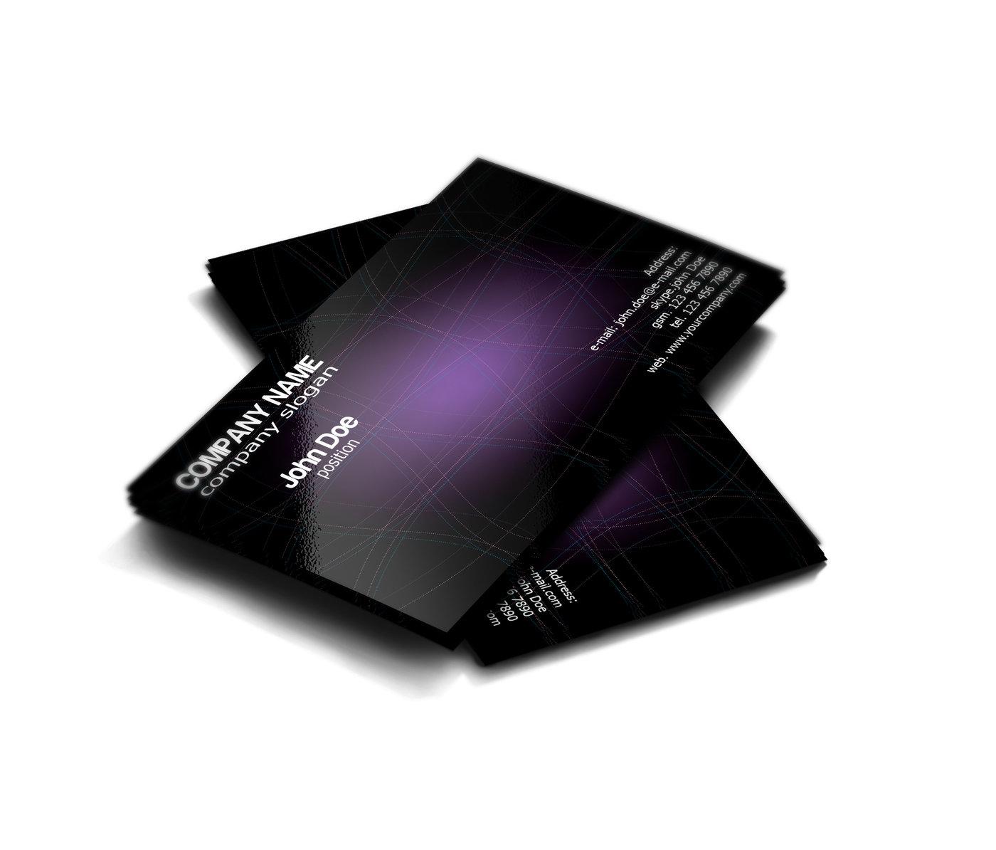 Stylish Dark Purple Free Business Card Template by Borce