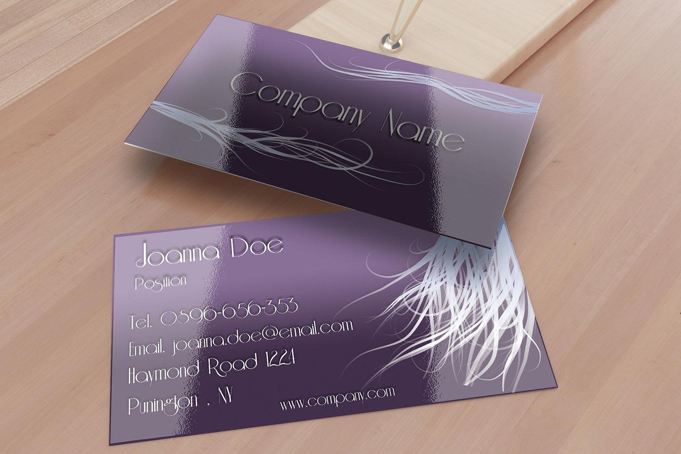 Hair Stylist Business Card Template By Borce Markoski At Coroflot Com