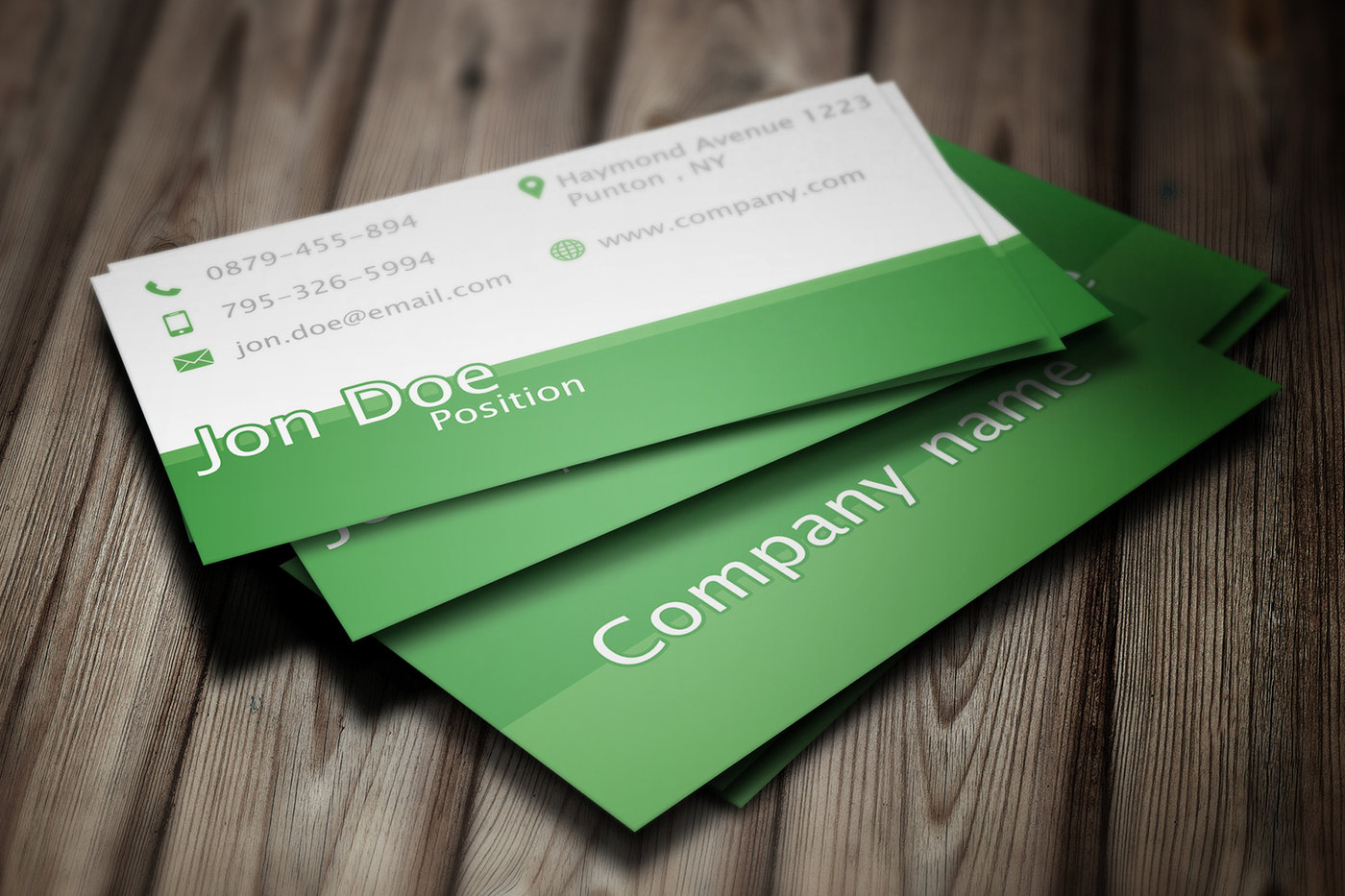 Elegant green business card psd template by borce markoski at share reheart Gallery