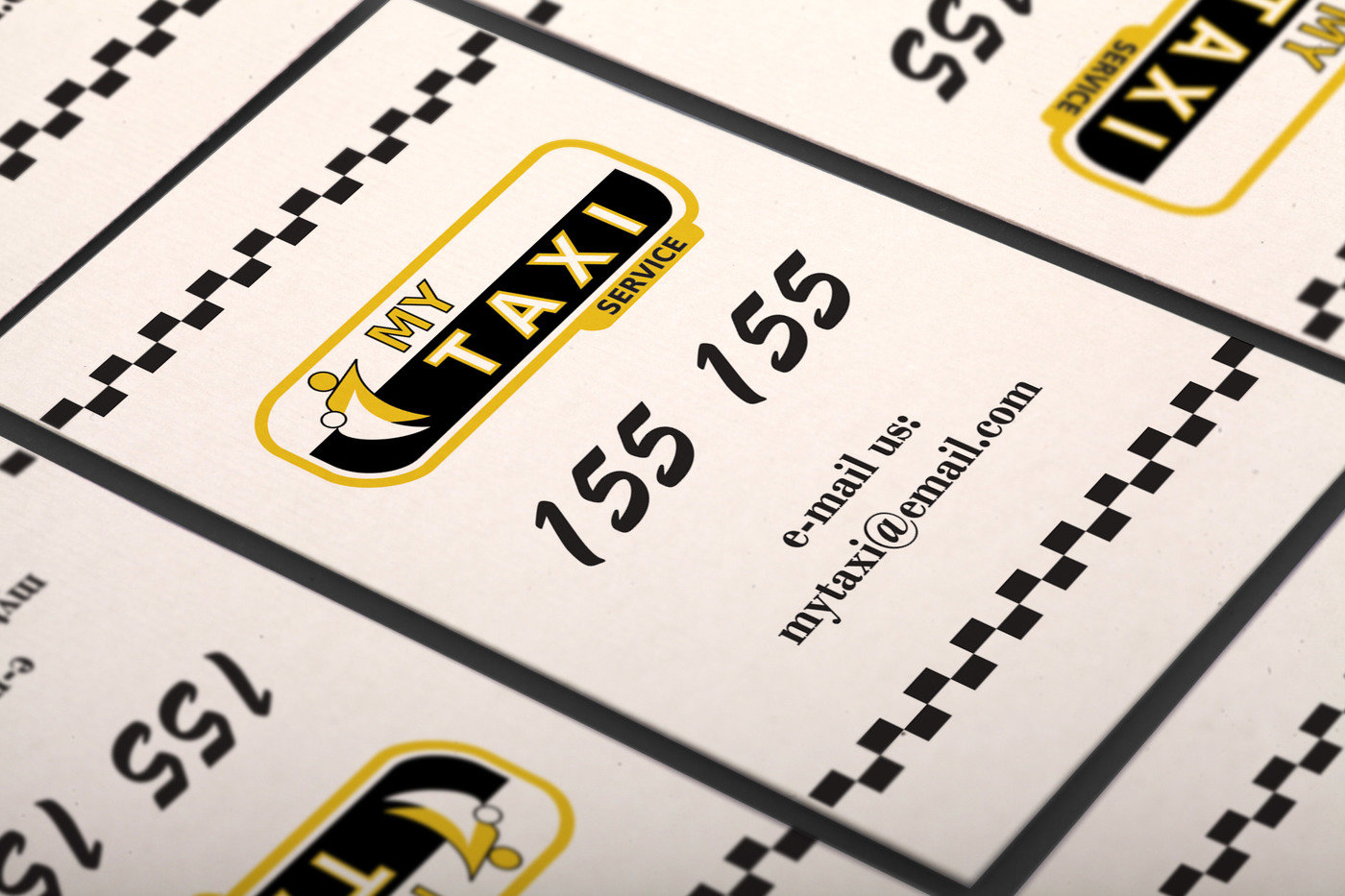 Free Vertical Taxi Business Card Template by Borce Markoski at ...