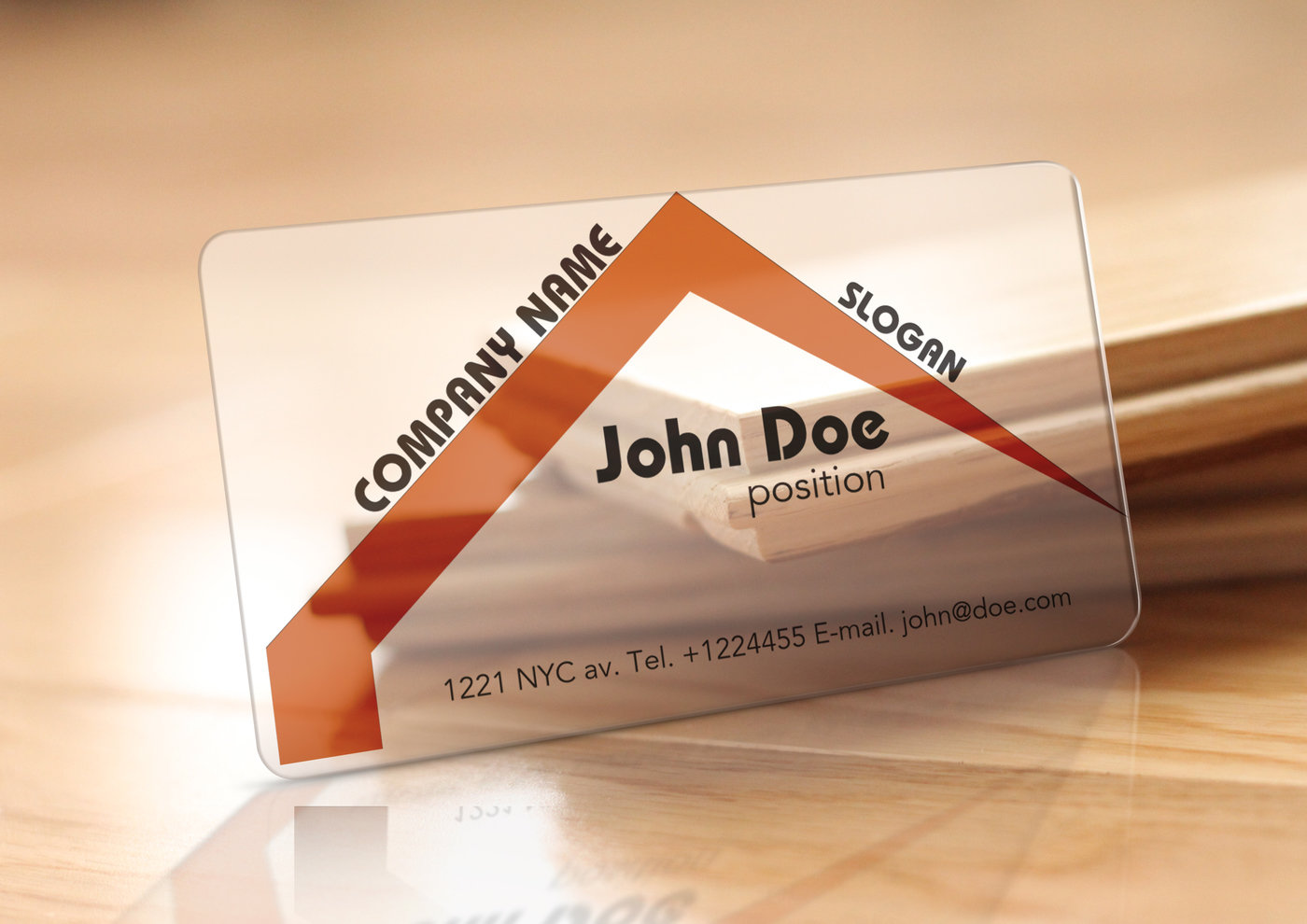 Translucent Plastic Realtor Business Card (Free Template) by Borce ...