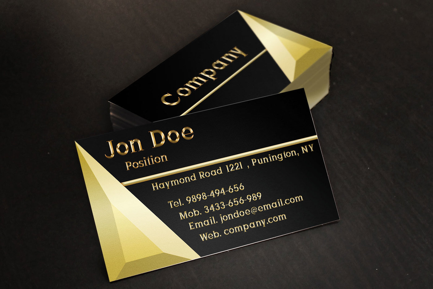 Black and Gold Jewelry Store Business Card Template by Borce ...