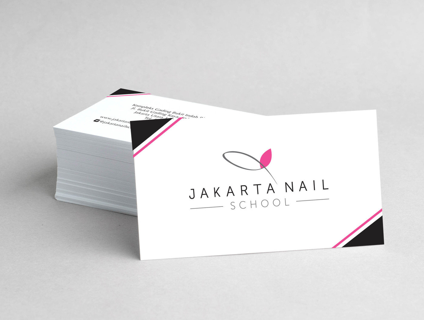 Logo And Name Card Design For Jakarta Nail School A Art Academy That Teaches Everyone Who Wants To Be Artist Or Open Their Own Shop