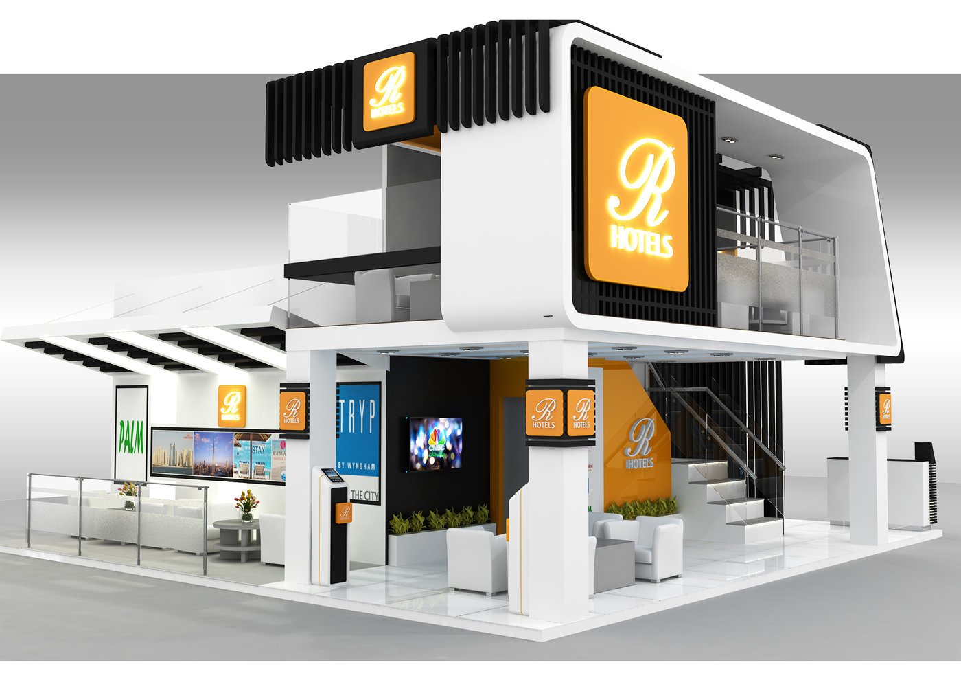 Exhibition Stand Double Decker : R hotel stand proposal atm 2015 double decker by rodel ofiaza at