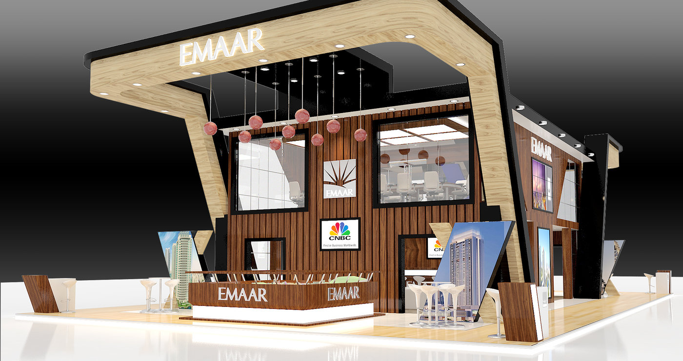 Exhibition Stand Design Proposal : Emaar double decker stand by rodel ofiaza at coroflot