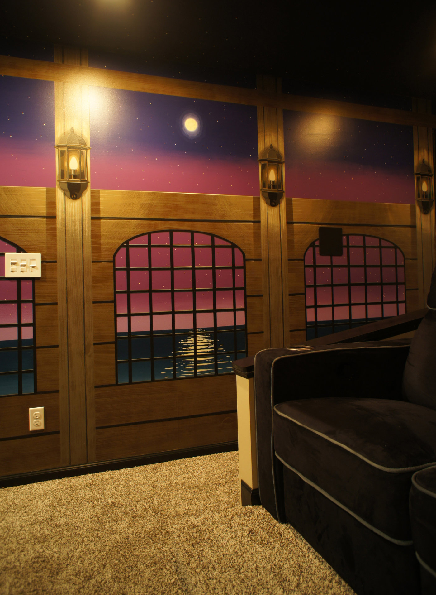 Theatre Room Mural Pirate Ship Theme By Jeremy Jarvis