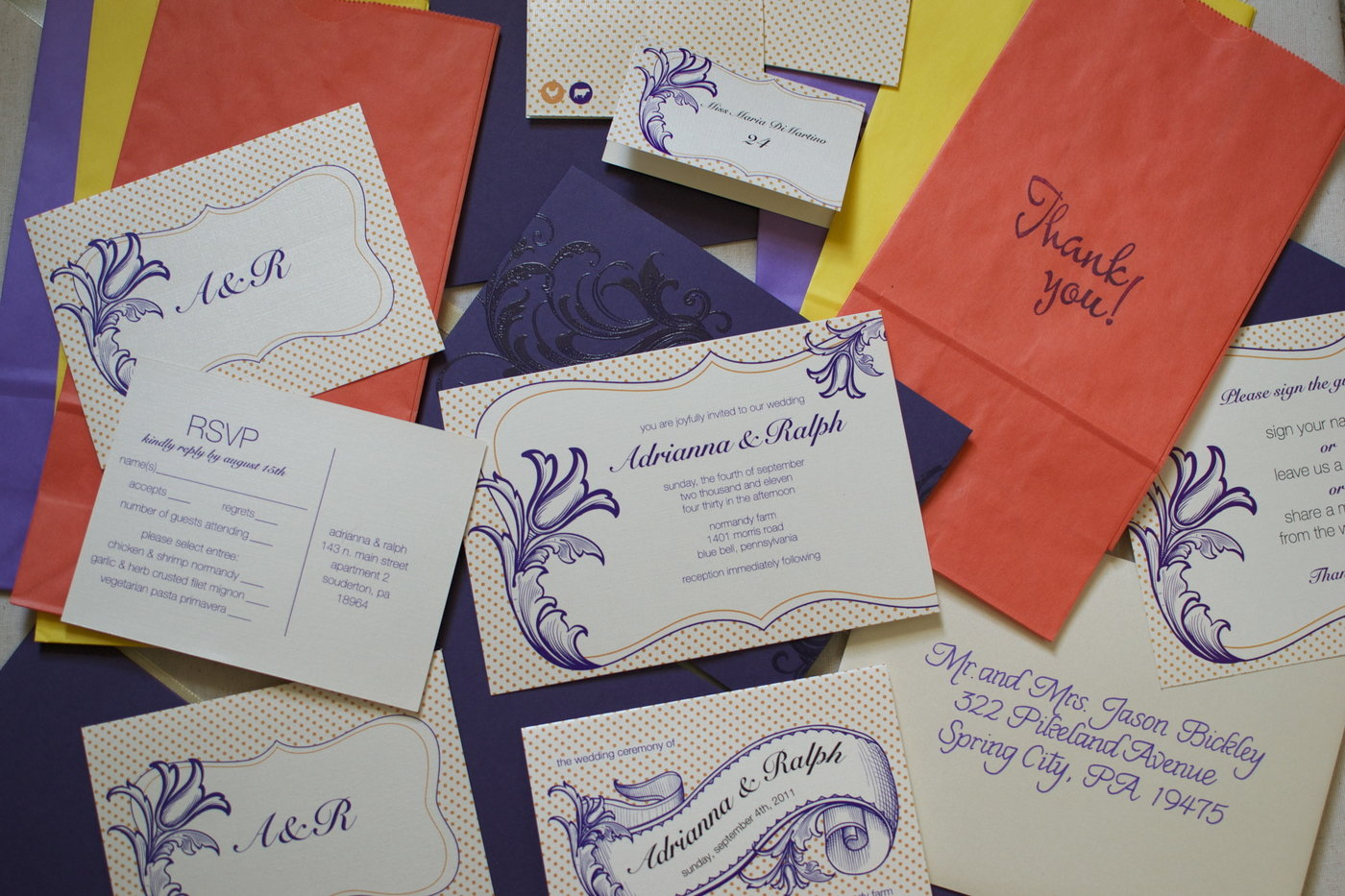 Wedding Invitations by Adrianna Hilborn at Coroflot.com
