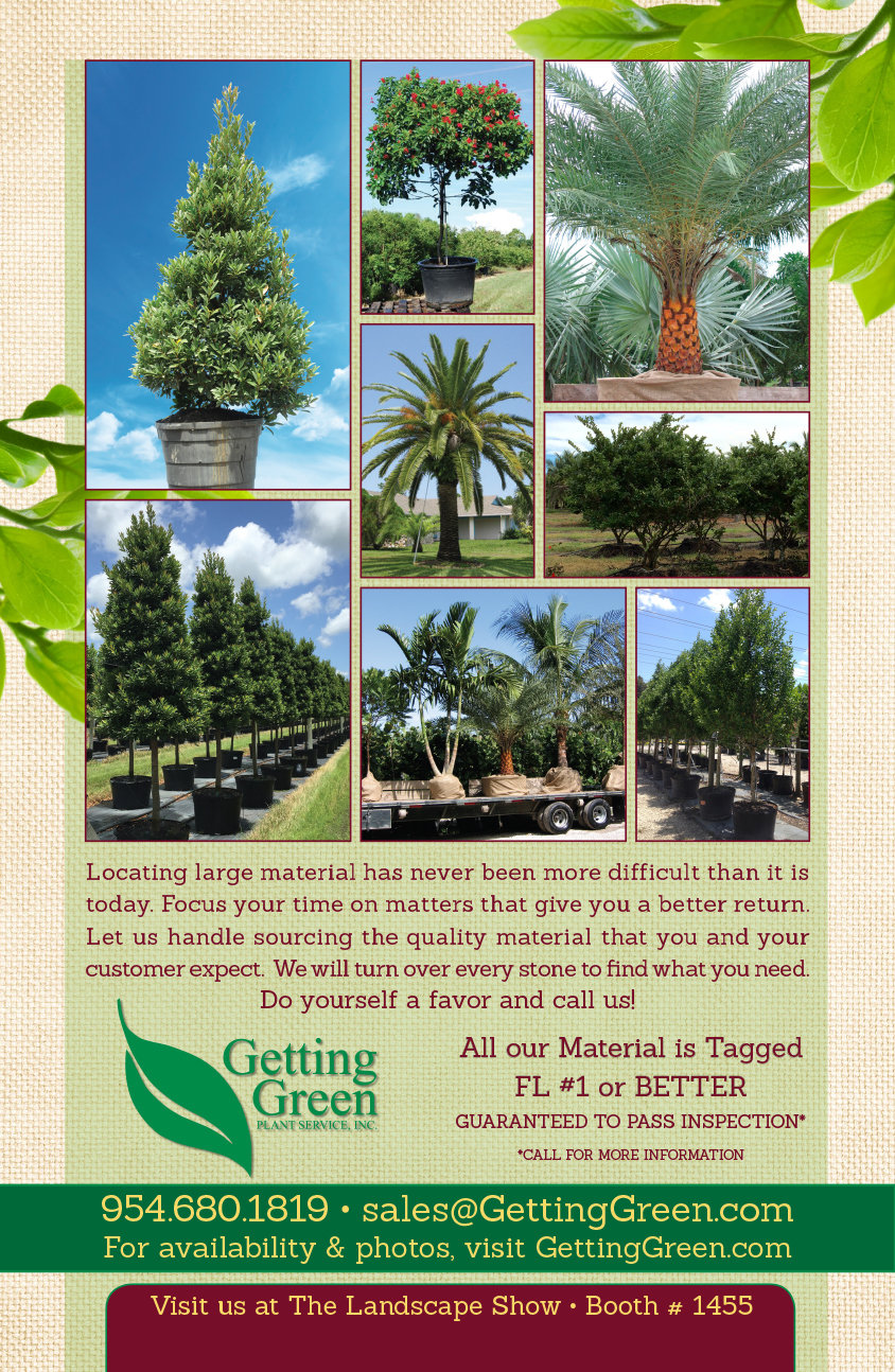 Full Page Magazine Ad for Plant Nursery by Maritza Lopez at