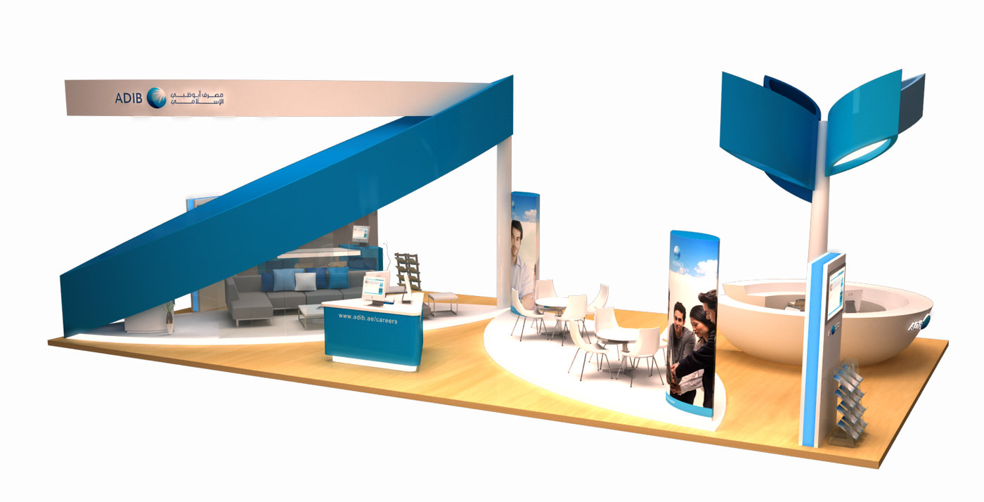 Exhibition Design - ADIB Banking Careers 2011 by HafidzMoro Moro at