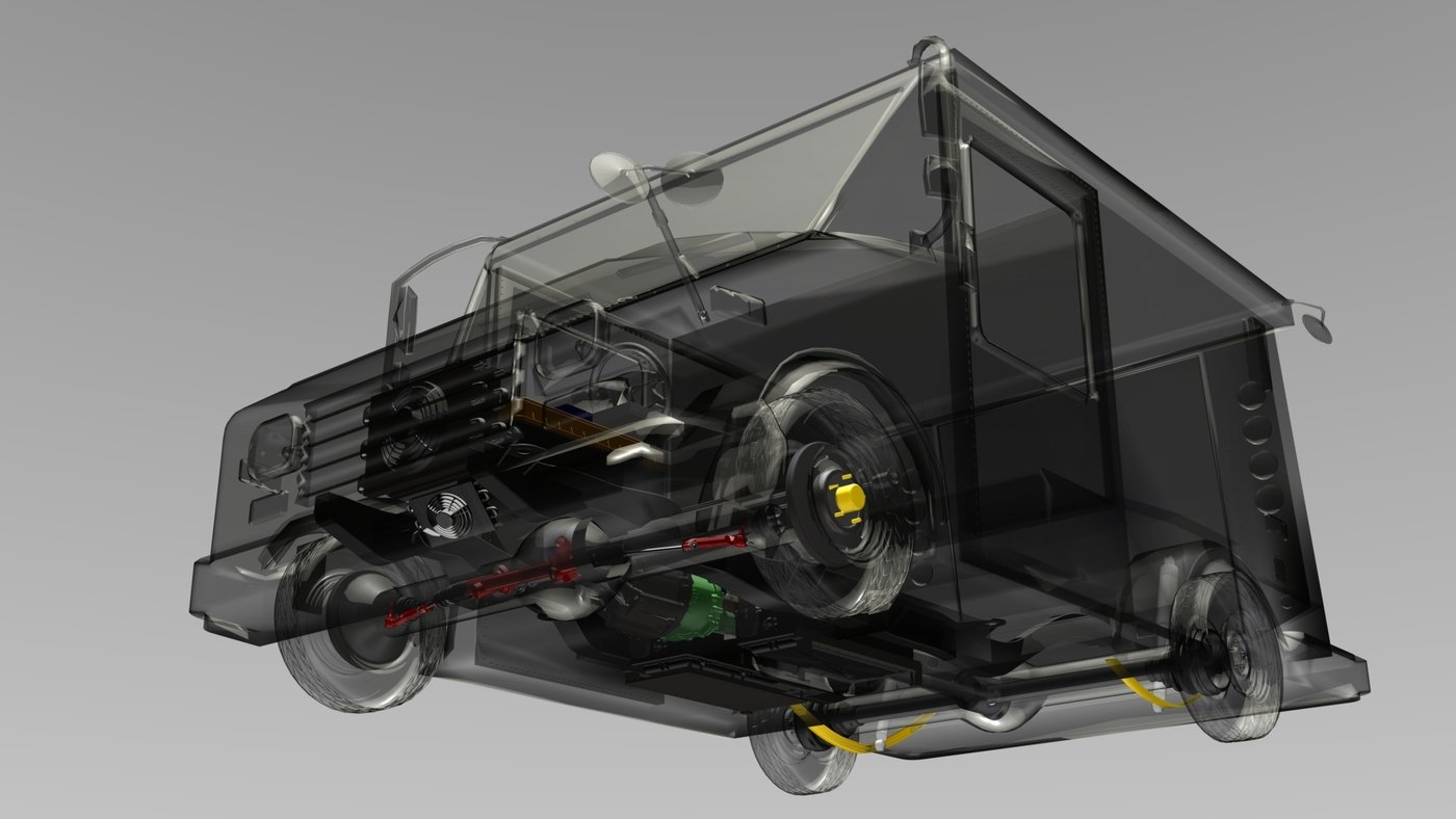 USPS Electric Postal Van by Joseph Rajakaruna at Coroflot com