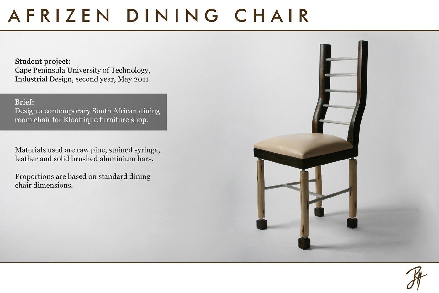 Wondrous Afrizen Dining Chair By Ryan H At Coroflot Com Creativecarmelina Interior Chair Design Creativecarmelinacom