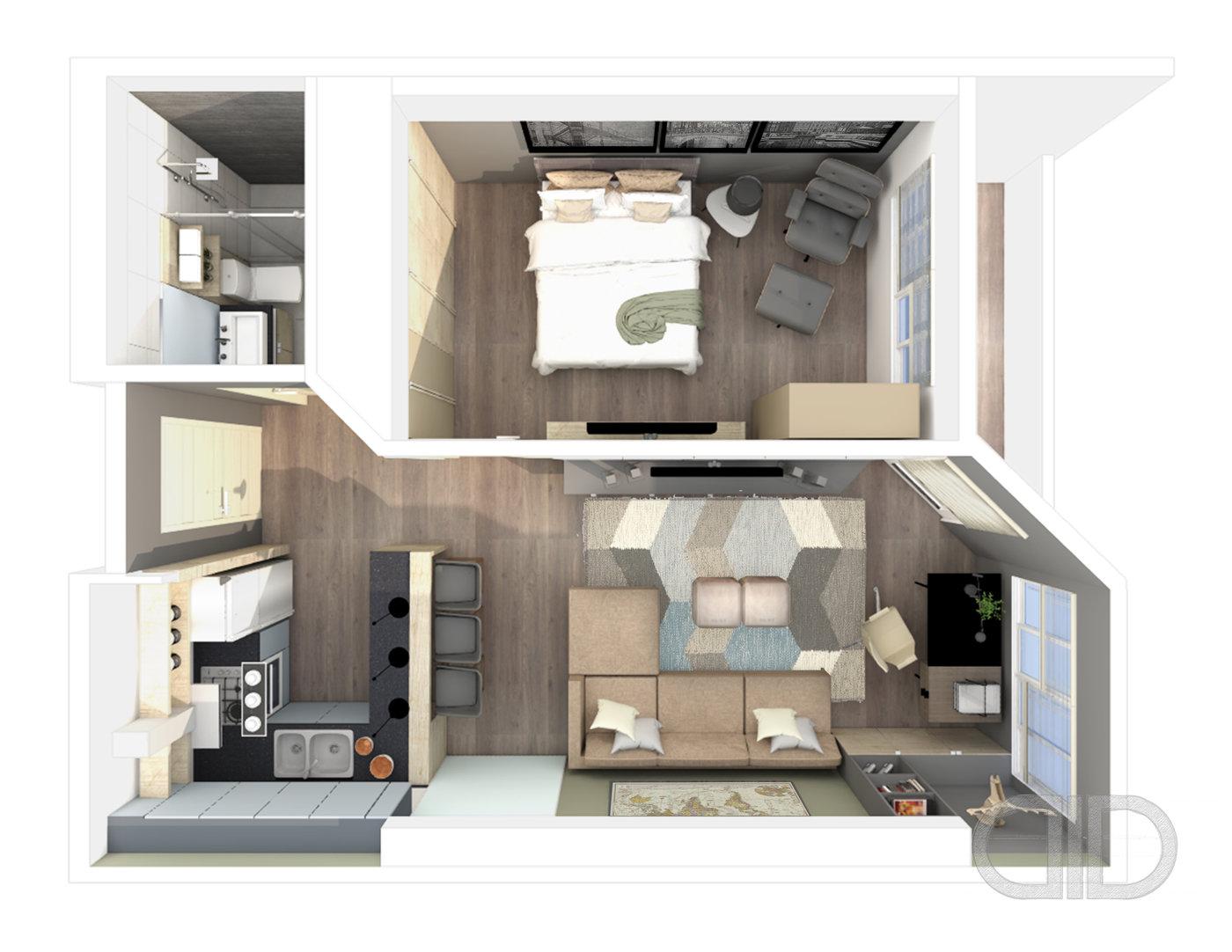 11 Bedroom Unit - Bachelor Pad by Erica Regina Ang at Coroflot.com