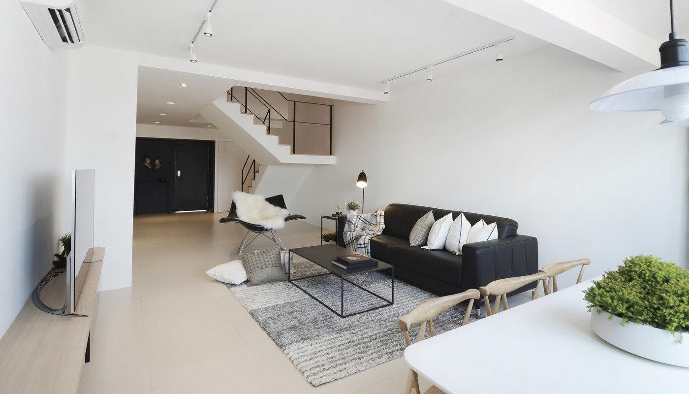 D maisonette singapore by 0932 design consultants at for Interior design jobs singapore