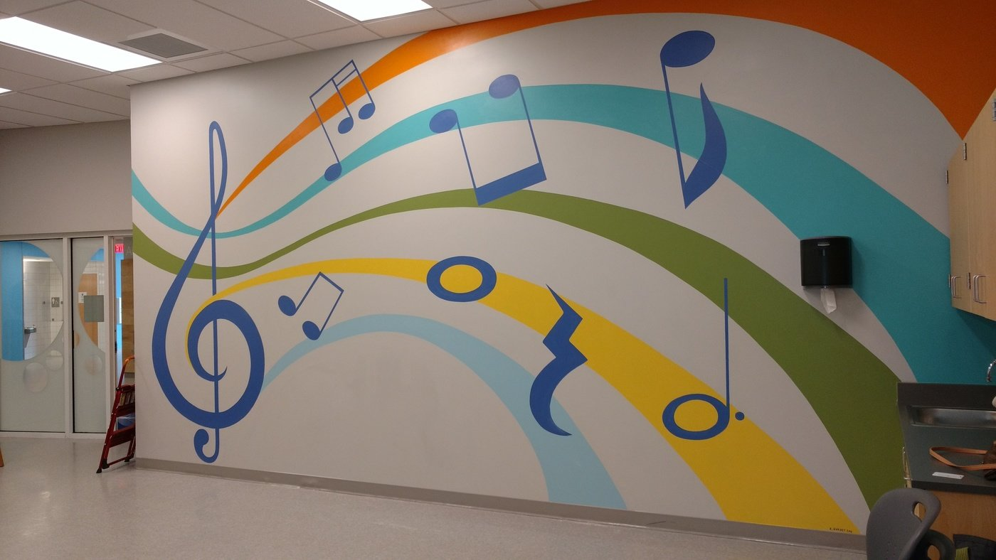 2018 Bancroft School Music Room Mural By Erica Harney At Coroflot Com