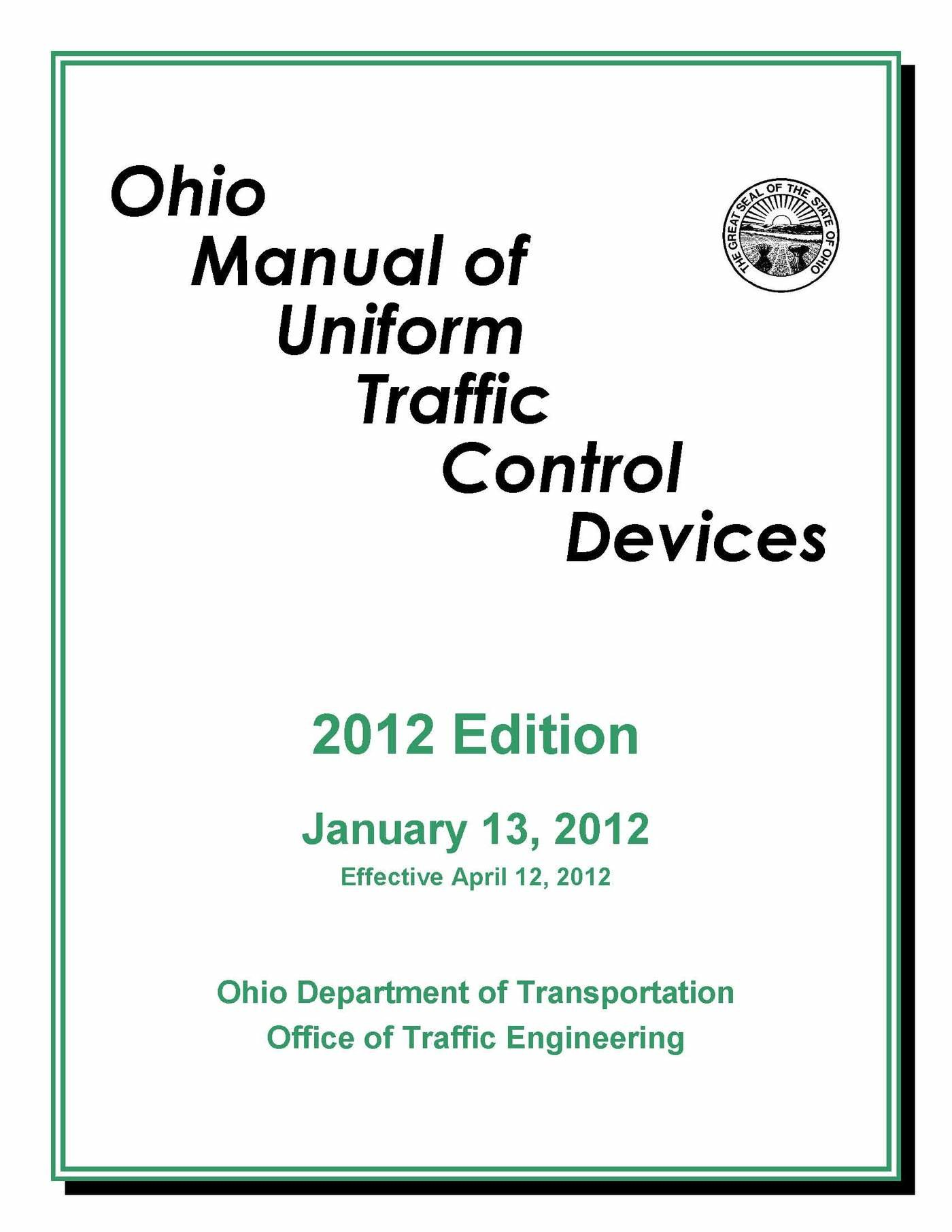 Ohio Manual of Uniform Traffic Control Devices by Matthew Hawk at  Coroflot.com