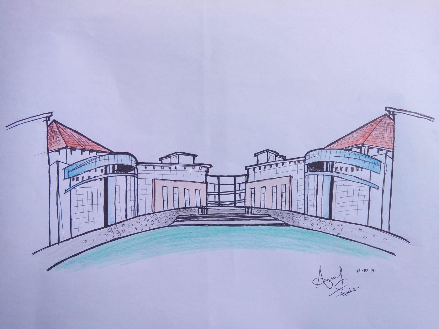 Gambar Arsitektur Gambar Teknik Dan Sketsa Lainnya By