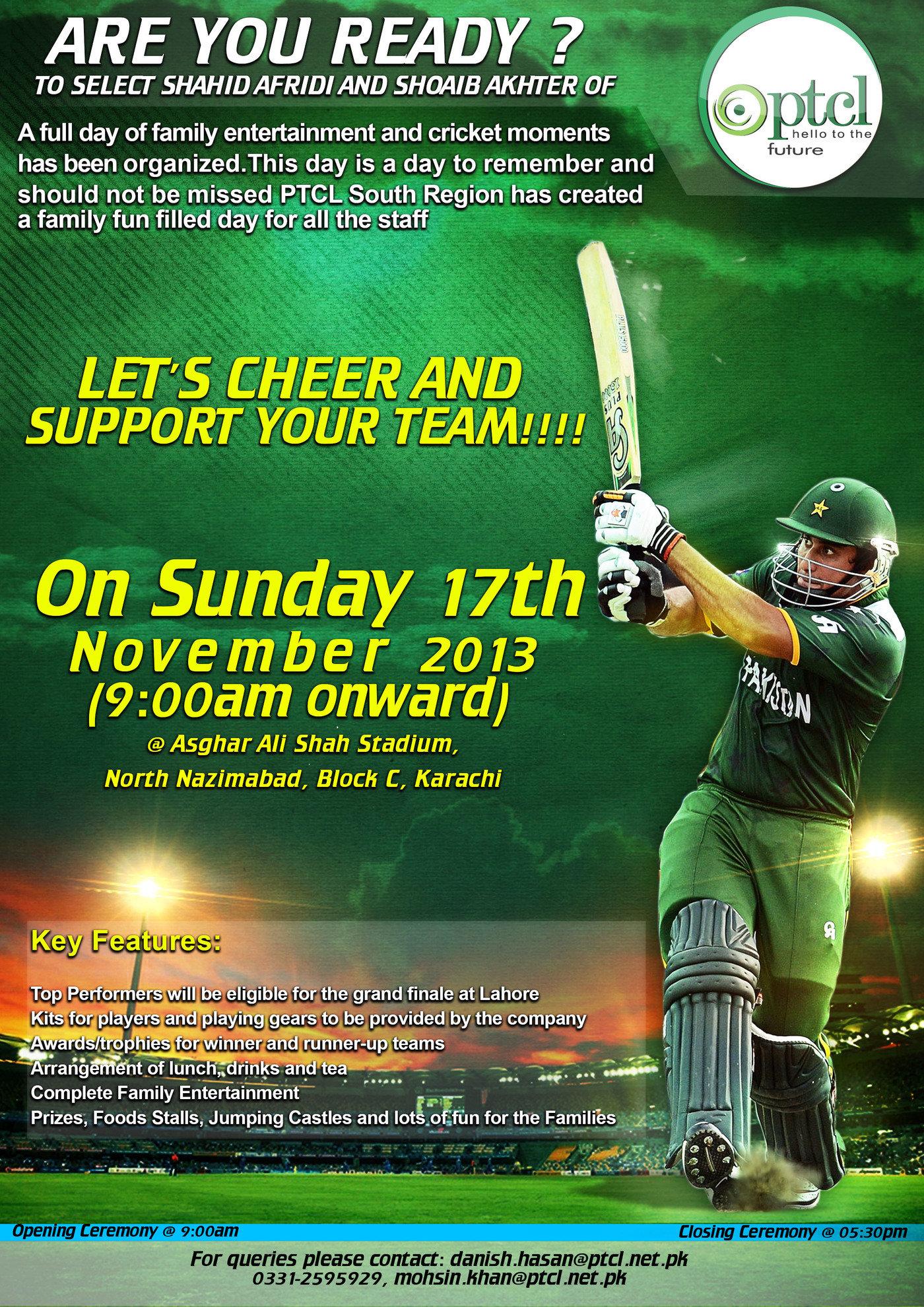 ptcl cricket tournament flyers by shah khan at coroflotcom