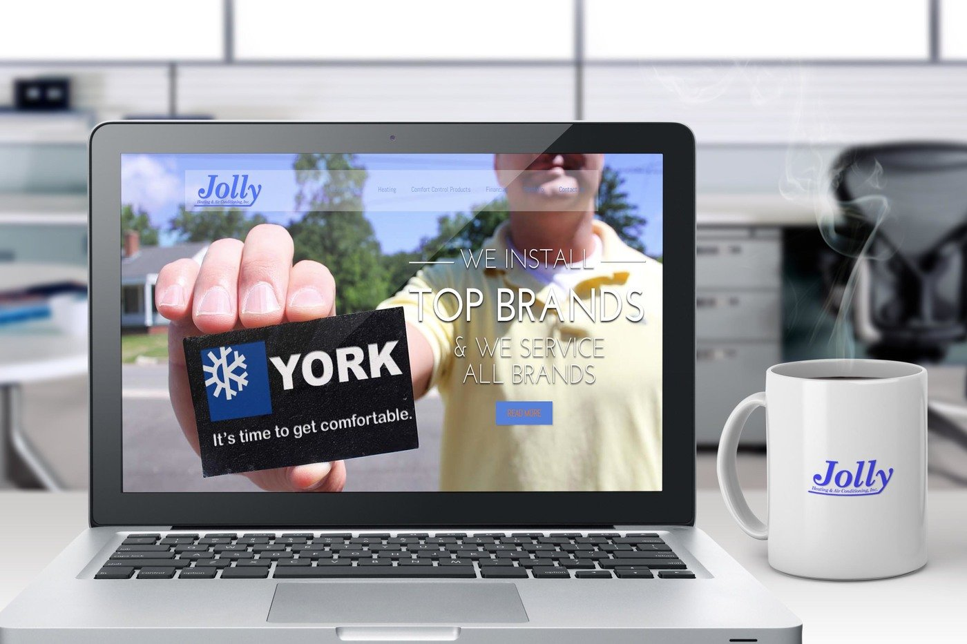 Jolly Heating Air Conditioning Website Redesign York Ac