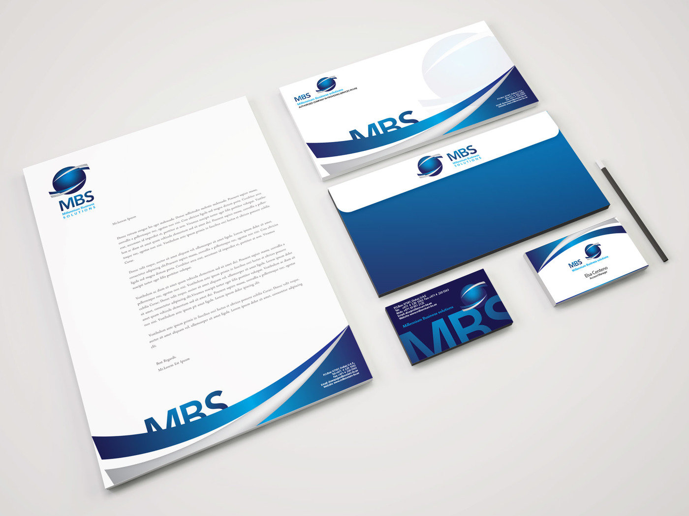MBS Solutions (Logo, Business Card, Vehicle Wraps, NCR Books ...