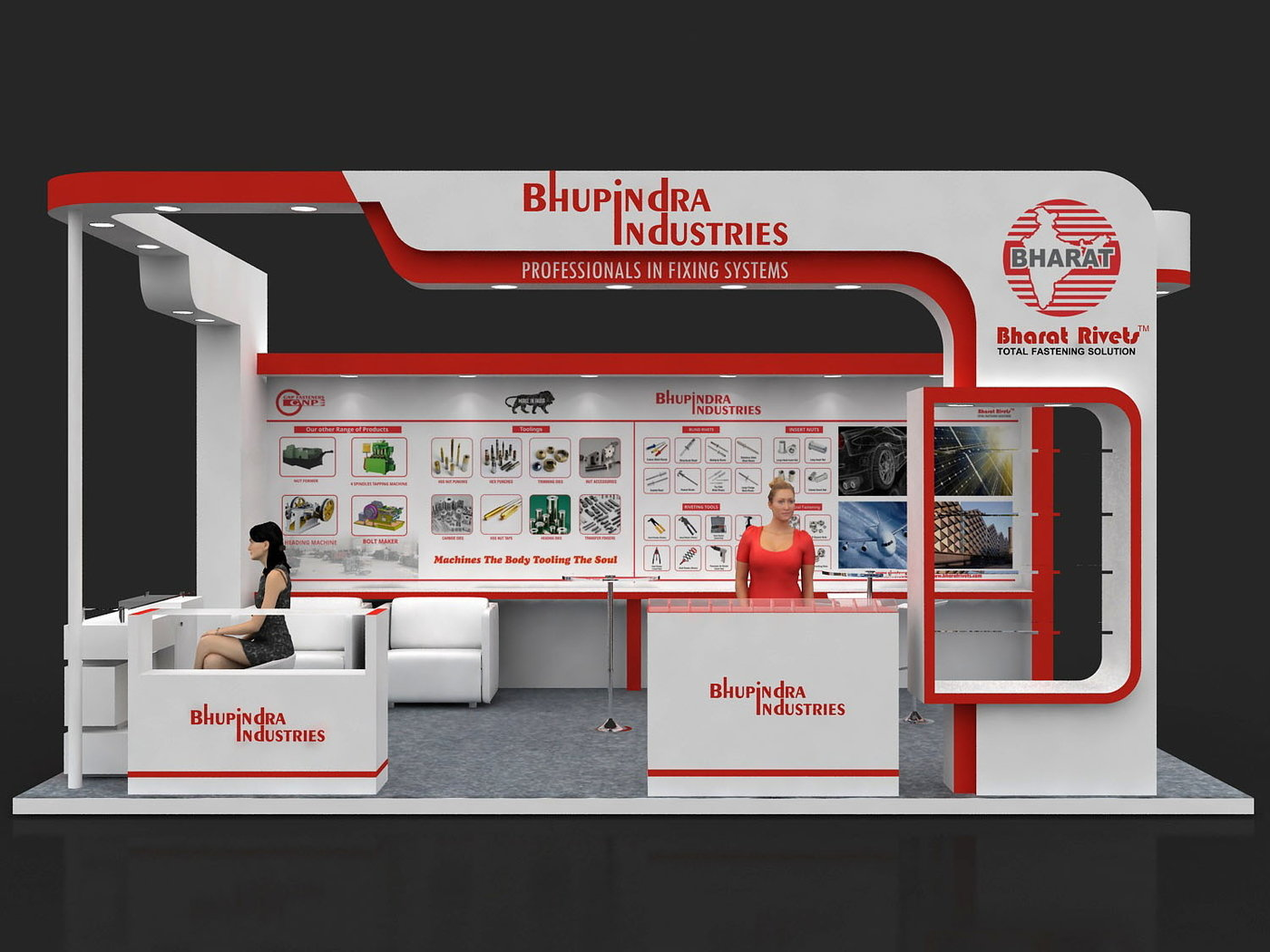 Outdoor Exhibition Stall : Bhupindra industries sqm fastener fair india