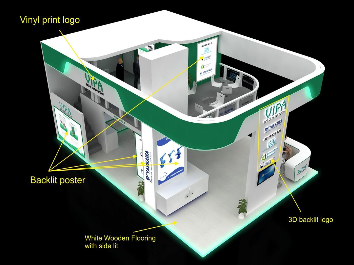 Vipa 70 sqm stall Automation 2015 exhibition sfow by Dipesh