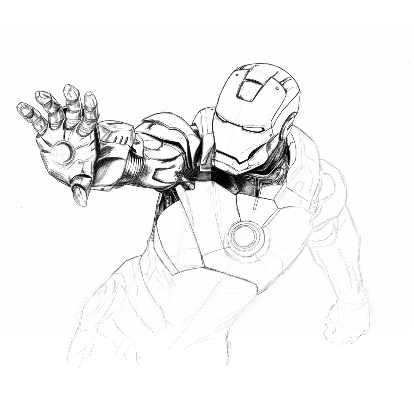 Iron Man Sketch By Mike Mccroskery At Coroflot Com