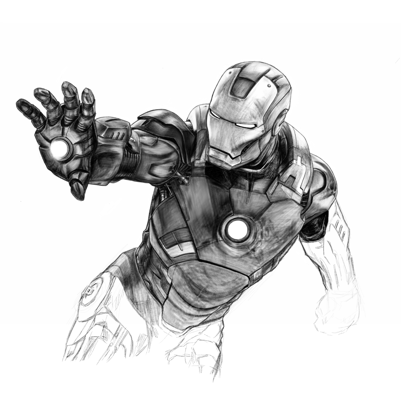 Iron Man Sketch By Mike McCroskery At Coroflot.com