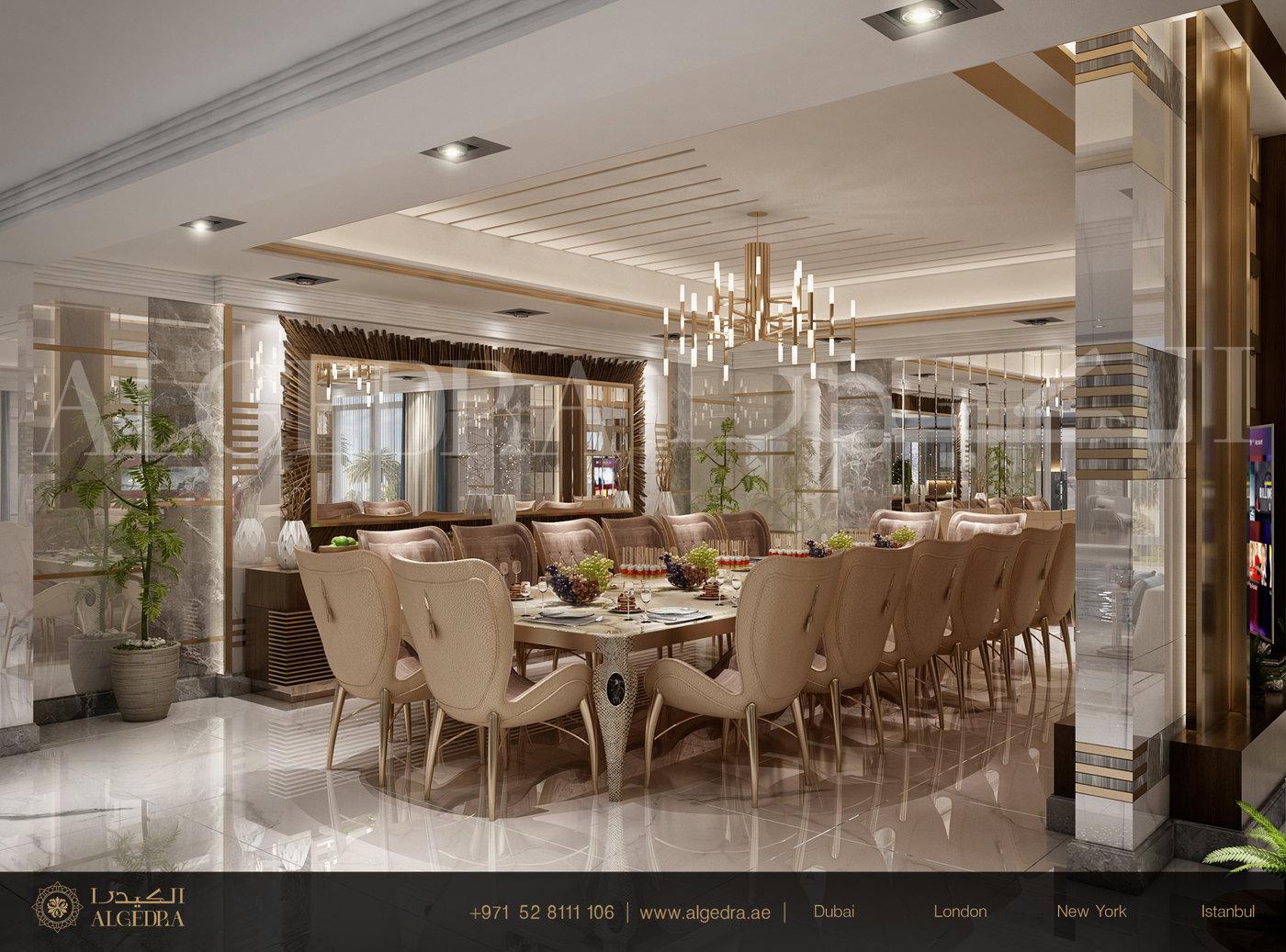 Luxurious Dining Room Design By Algedra Interior Design At Coroflot Com