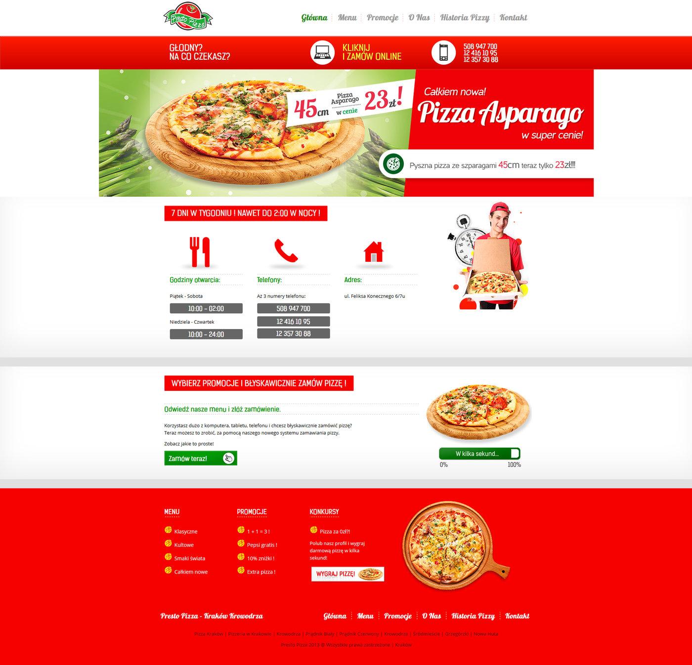 presto pizza web template by bartosz adamczyk at coroflot com