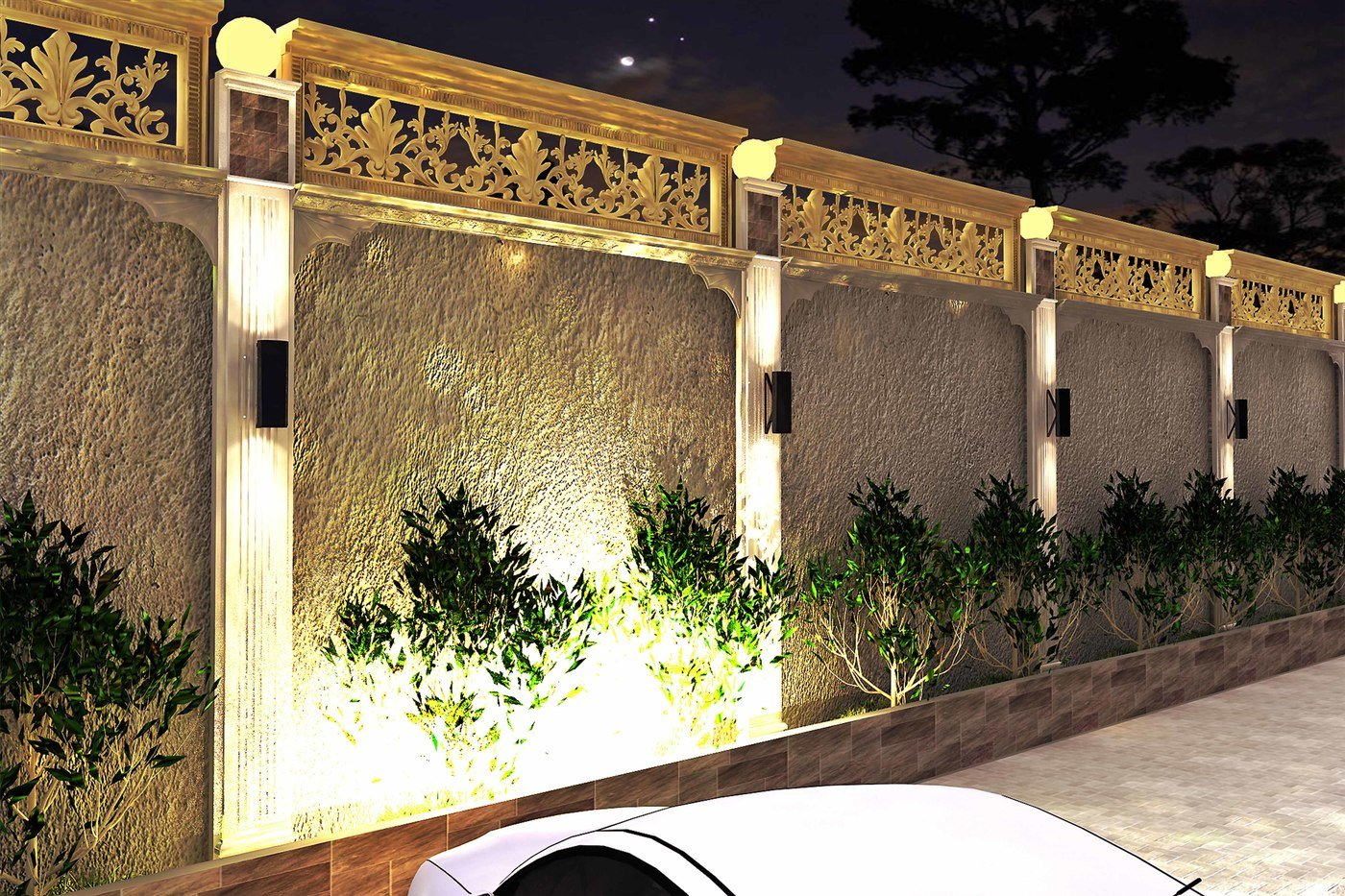 Boundary Wall Design By Israr Ahmed At Coroflotcom