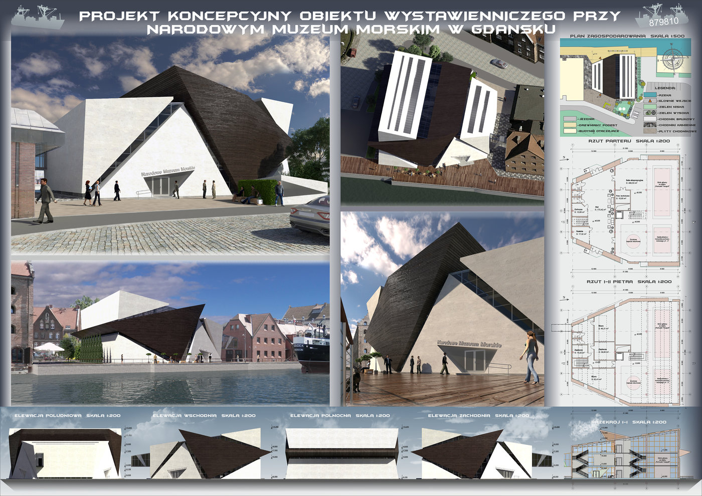 Project concept - Exhibition Building at the Maritime Museum in