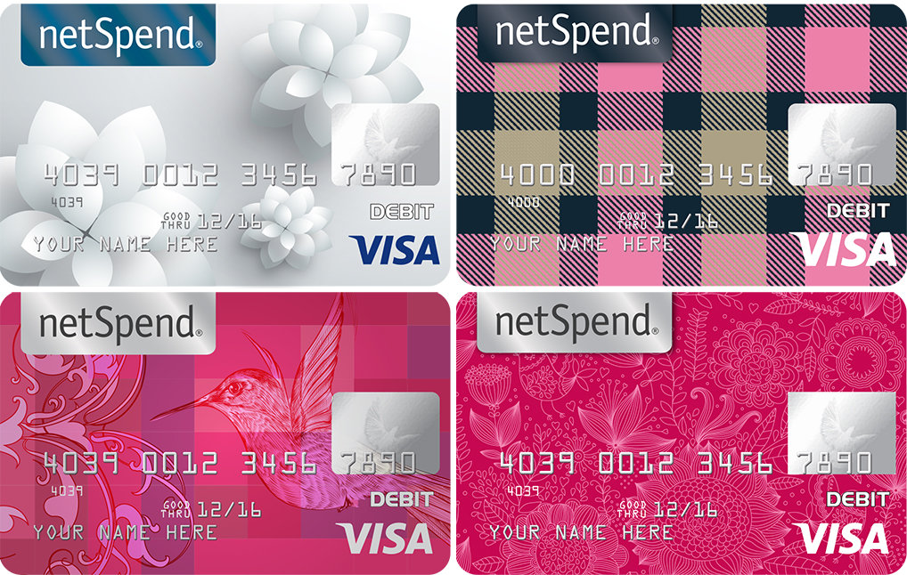 netspend prepaid card design and packaging - Netspend Visa Prepaid Card