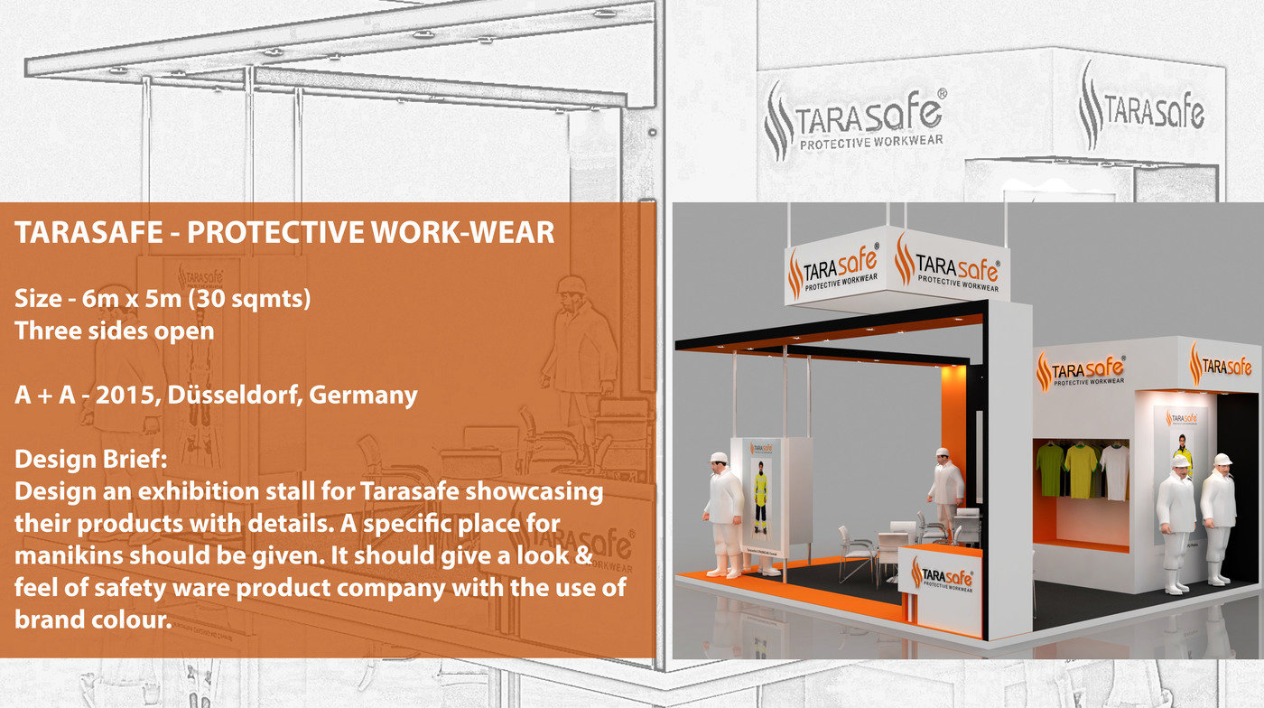 Exhibition Stall Size : Exhibition stall design for tarasafe by vaidehi oza at coroflot