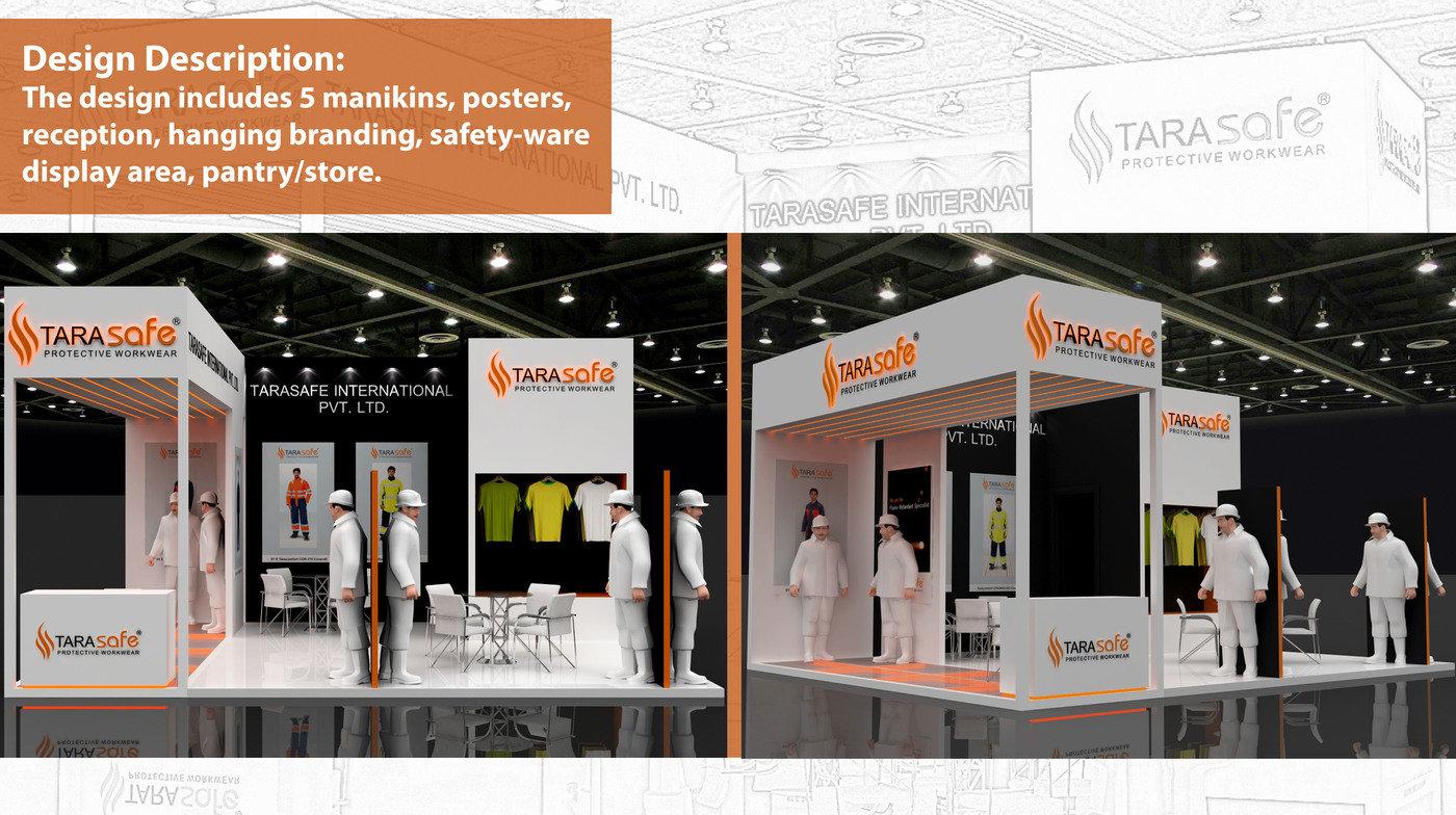 Exhibition Stall Reception : Tarasafe exhibition stall design by vaidehi oza at coroflot