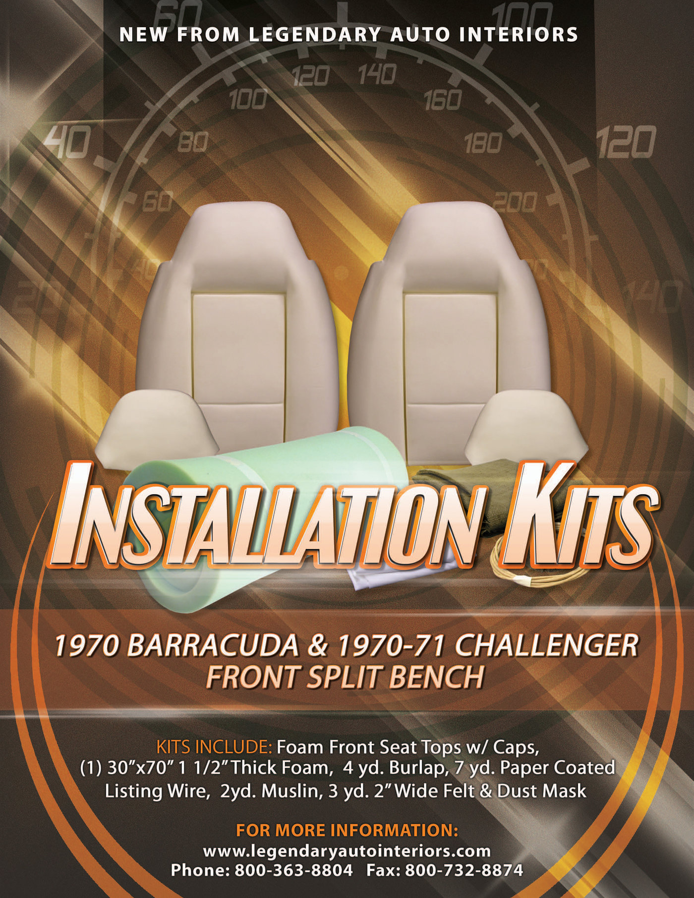 Seat Upholstery installation Kit Flier by Jeff Ellsworth at